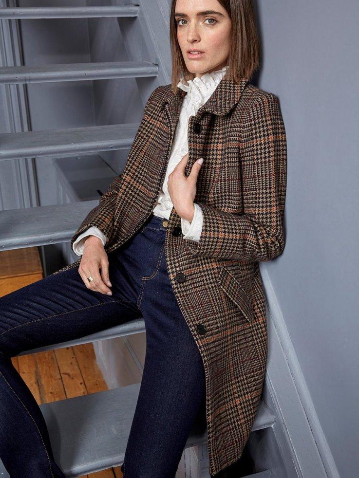manteau à carreaux Cyrillus