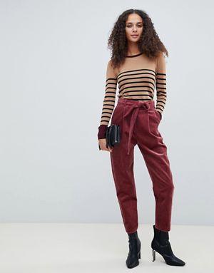 pantalon fuselé avec lien à nouer à la taille asos design 65,99€